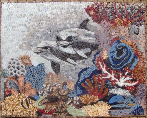 mosaic marmura 21 (dolfins)