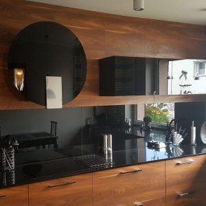 Blat bucătărie negru compozit cuarț Brilliant Black