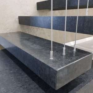 Granit negru periat scări interioare Nero Angola