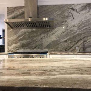 Granit blat de lucru bucătărie Terra Bianca