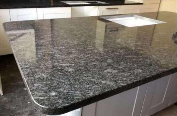 Blat bucătărie granit gri antracit Steel Grey lucios