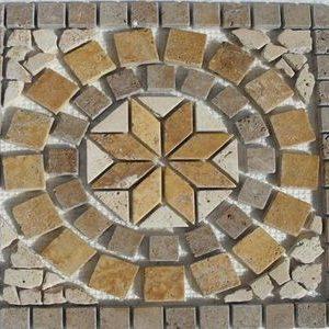 Medalion Mozaic Travertin 01