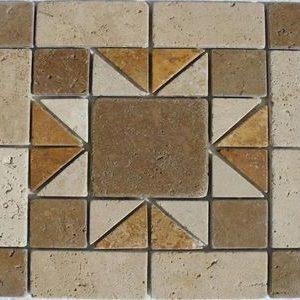 Medalion Mozaic Travertin 03