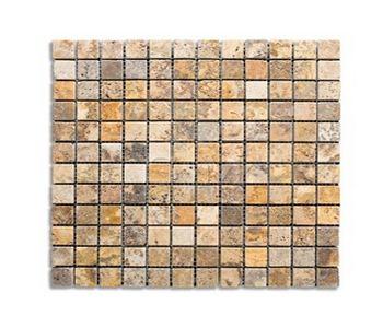 Mozaic travertin Autum Leaves Tumbled