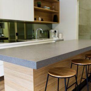 Blat de bucătărie și baie compozit quartz Noble Concrete Grey