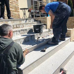 montaj granit trepte exterior