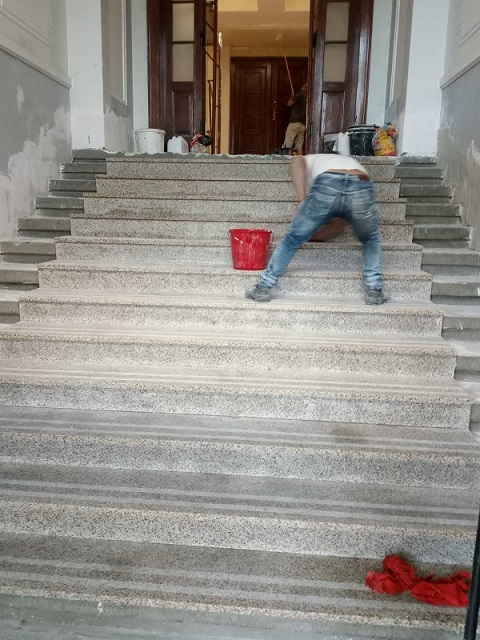 montaj trepte de granit