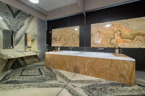 showroom Rocas Decor departament lux montaj lastre marmura