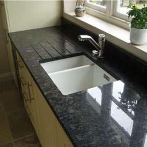 Blaturi de bucătărie din granit negru Nero Angola lucios